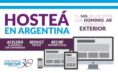 Informe: Hosting de sitios web de Argentina, 54% se aloja en el exterior