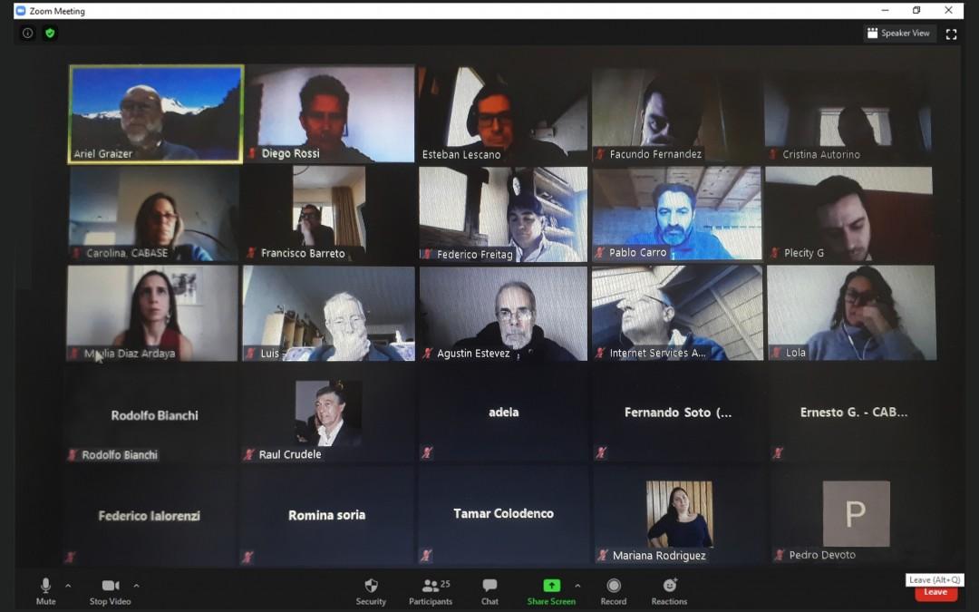 Reunión entre el Diputado Pablo Carro y referentes de la Cámara Argentina de Internet –CABASE-